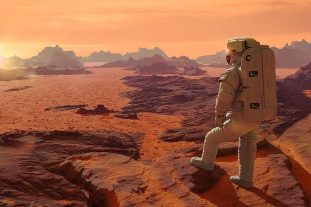 A man on Mars