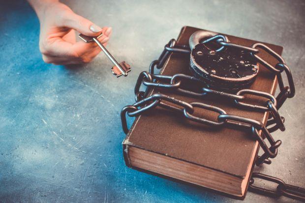 A padlocked book