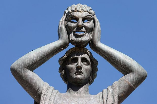 Jacinto Benavente monument, Buen Retiro Park, Madrid, Spain