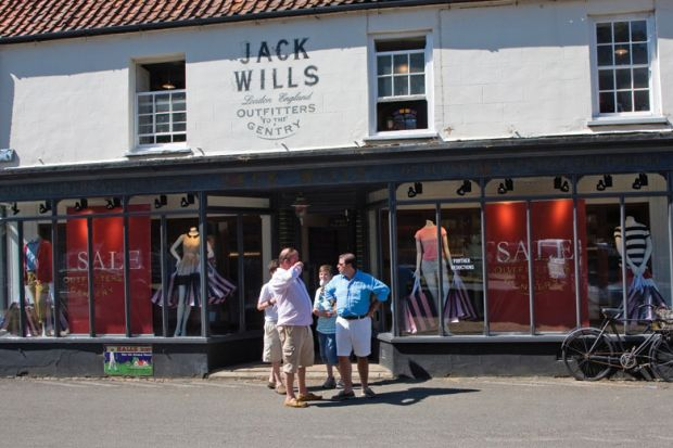 Jack Wills clothing shop, Burnham Market, Norfolk, England