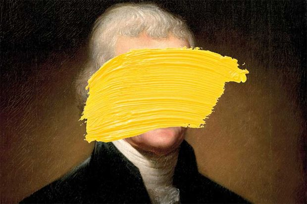 Jefferson with paint over face
