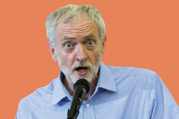 Jeremy Corbyn speaking into microphone