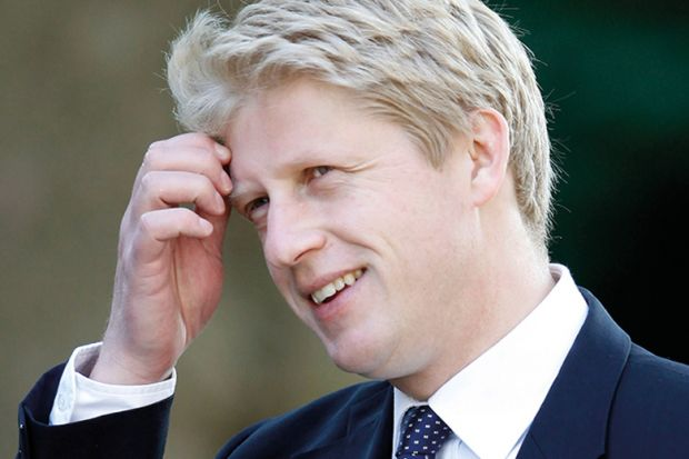 Jo Johnson smiling