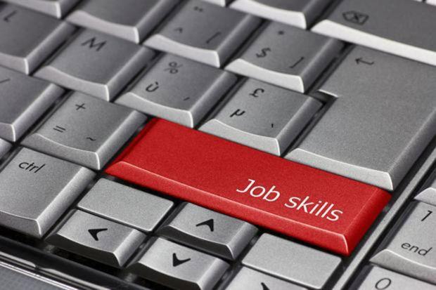 Job skills key on PC keyboard