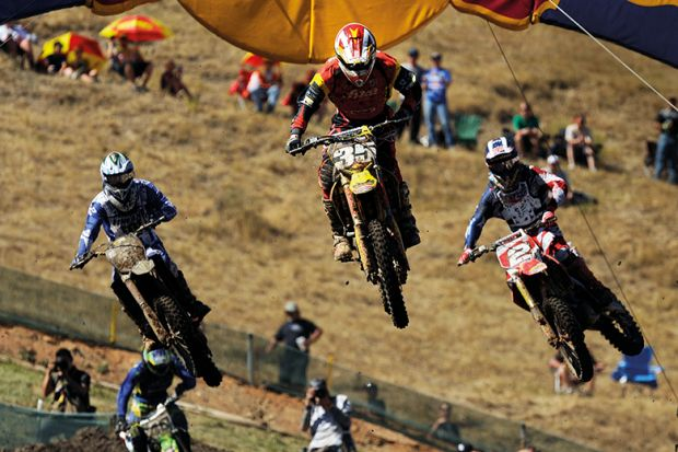 Bikes jump