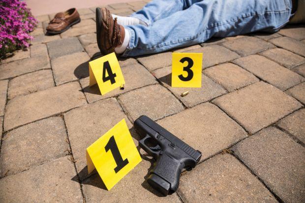 Key evidence marked at crime scene