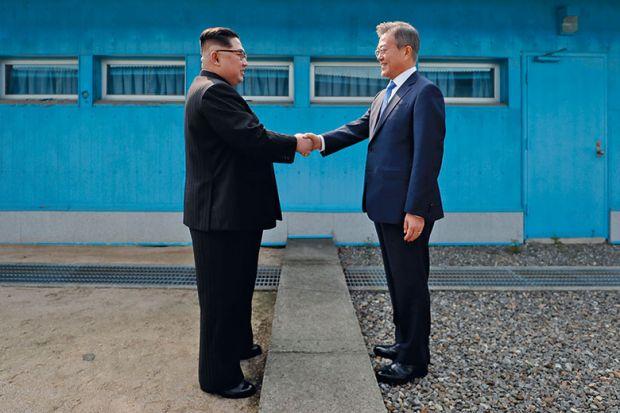 korea handshake
