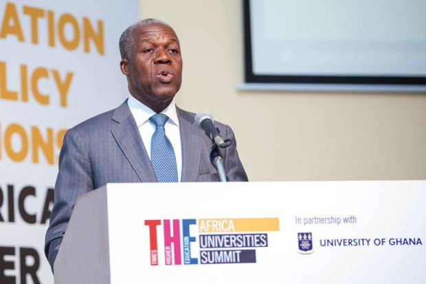Kwesi Bekoe Amissah-Arthur speaking at Africa Universities Summit