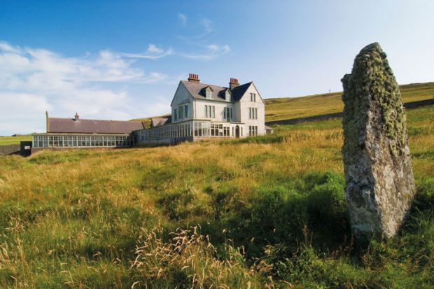 Leagarth House, Fetlar, home of Sir William Watson Cheyne