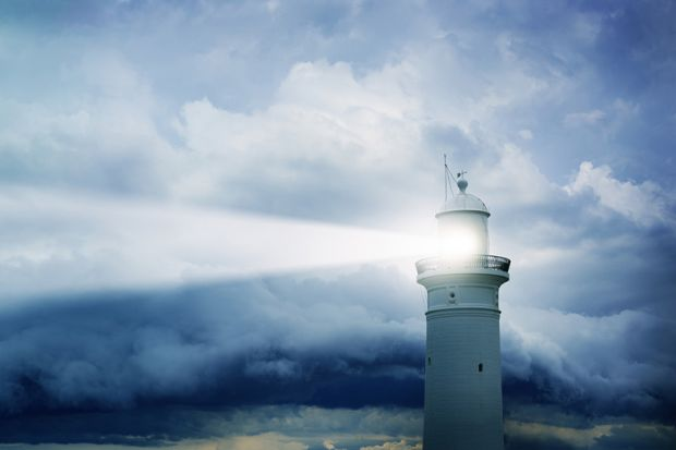 Lighthouse shining light