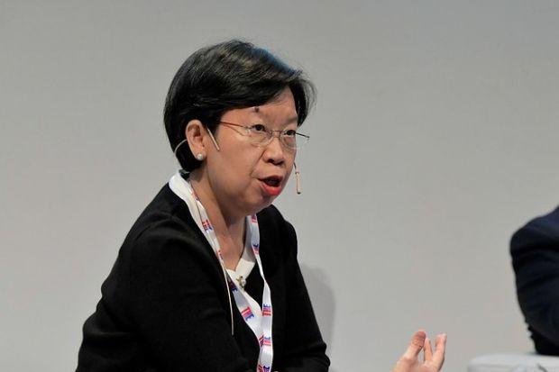 Lily Kong at the World Academic Summit 2019