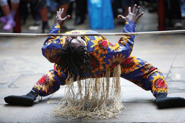 Limbo dancer