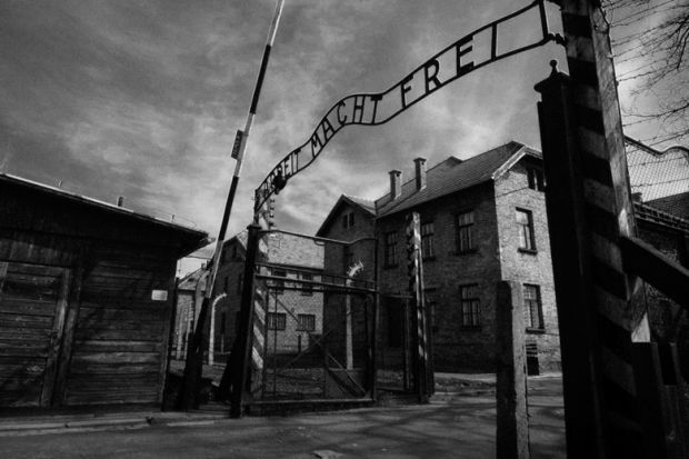 Main gate of Auschwitz-Birkenau concentration camp