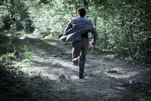 Man flees