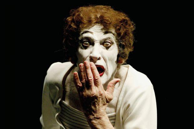 Marcel Marceau performing, Lima, 2004