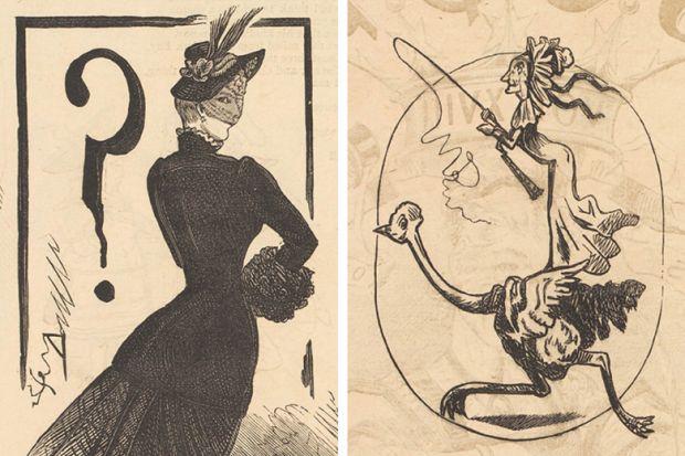 Marie Duval (Isabelle Émilie de Tessier) cartoons