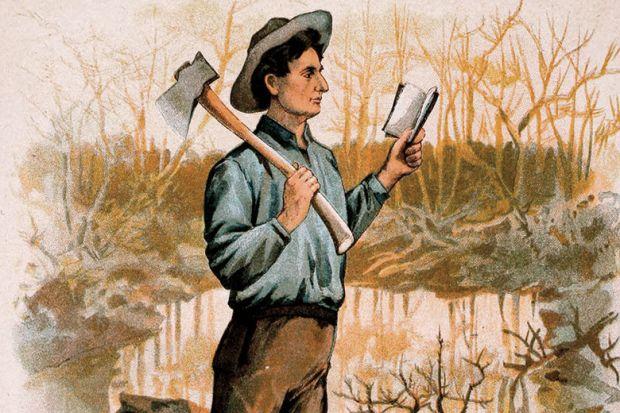 Illustration of man reading