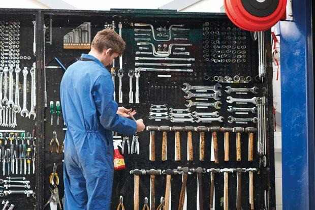 Mechanic with tools