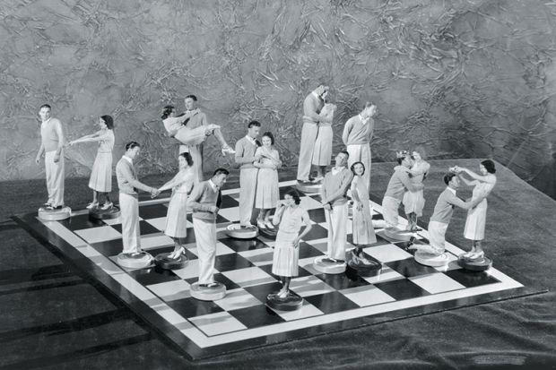 men women chessboard