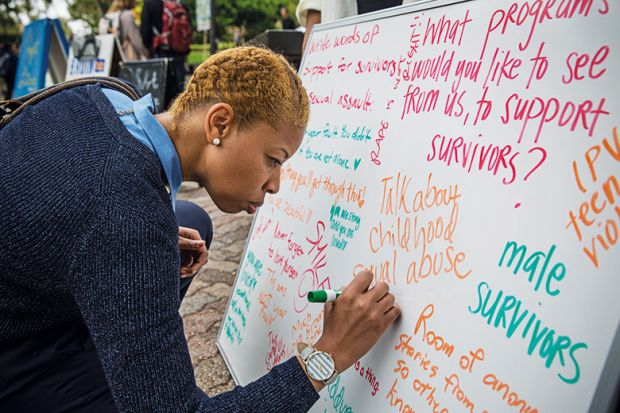Messages to sexual assault victims at UCLA
