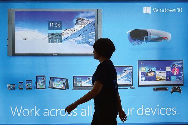Microsoft advert
