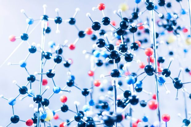 A complicated molecule, symbolising interdisciplinary links