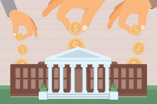 Money being put into for-profit university (illustration)