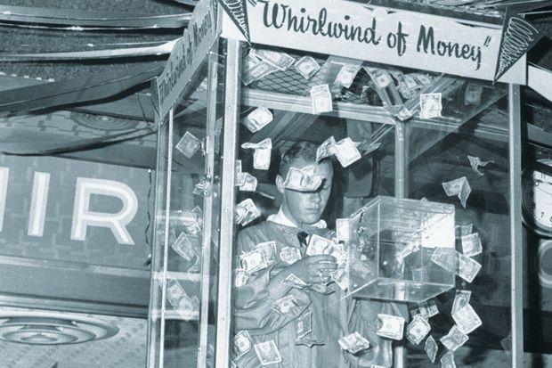 Whirlwind of money machine