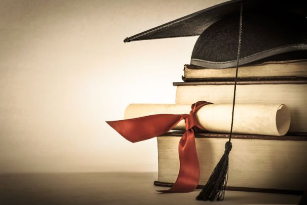 Mortar board degree certificate books