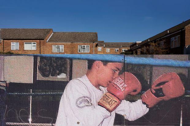 Boxer on mural