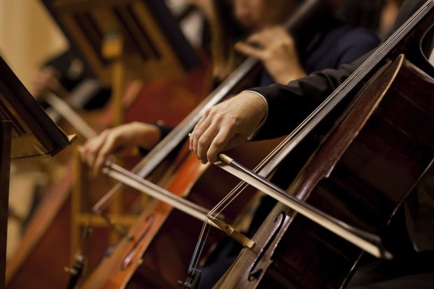 Music orchestra cello