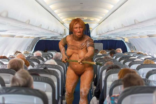 neanderthal-on-airplane