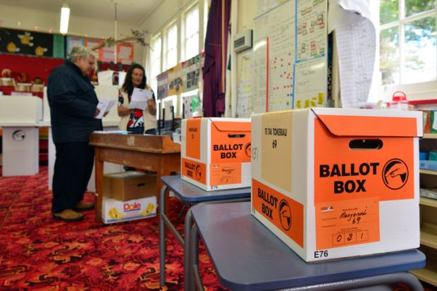 New Zealand ballot boxes