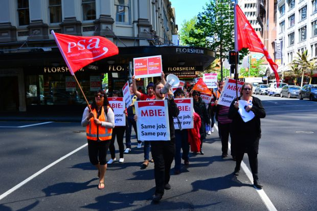 New Zealand pay protest