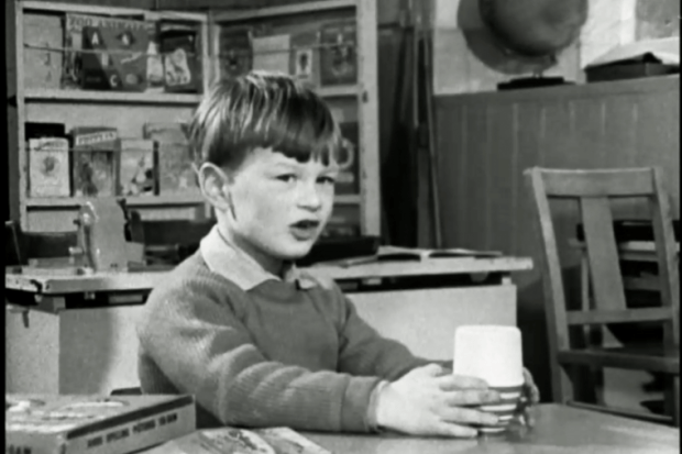 Nicholas Hitchon, aged 7, in Michael Apted's 'Seven Up!' documentary