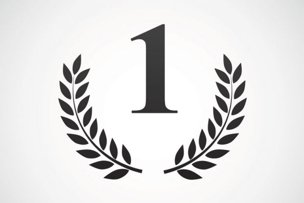 Number one laurel wreath (illustration)