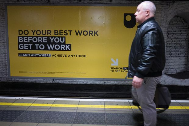 open university tube advert