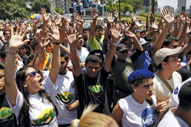 Opposition student rally, Caracas, Venezuela, 2011