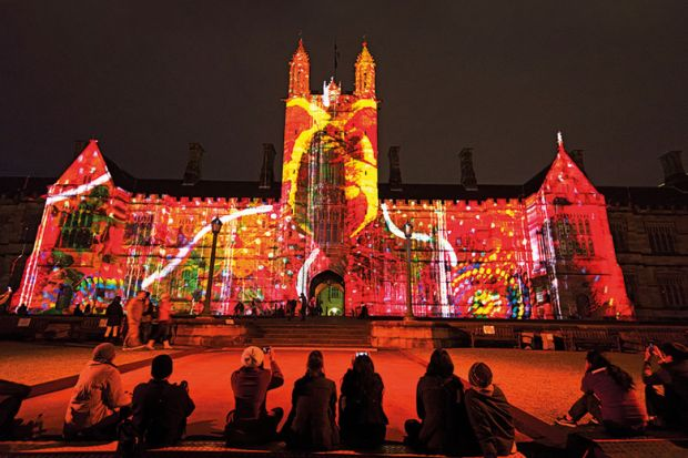 University of Sydney campus during Vivid Sydney Festival