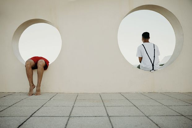 People sitting in circles in wall