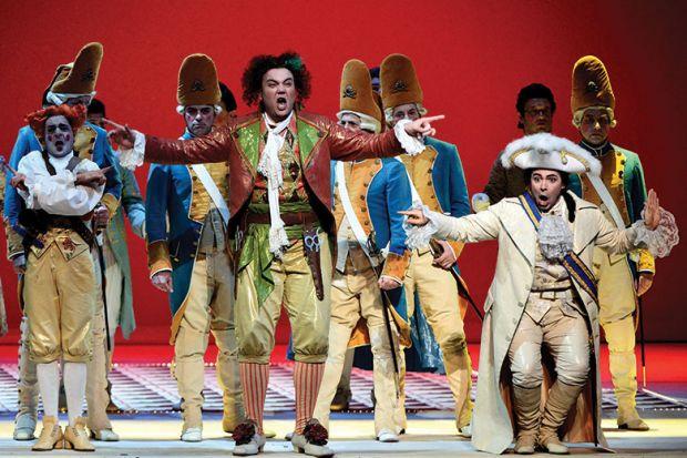 Dress rehearsal of Gioacchino Rossini's opera Il Barbiere di Siviglia (The barber of Seville), Opera Theatre in Rome, 2012