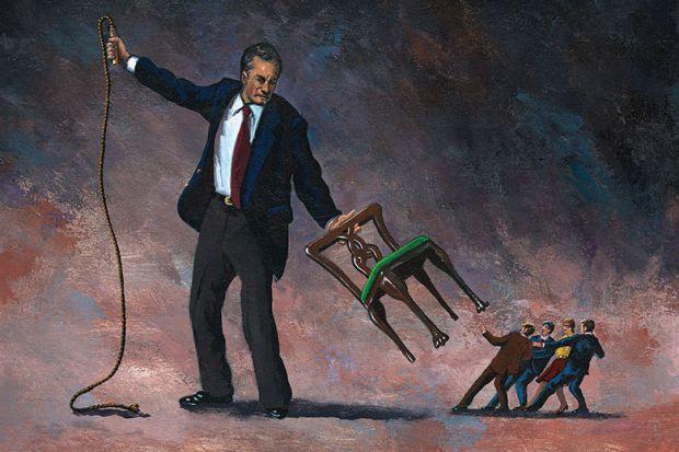 Illustration of man holding whip