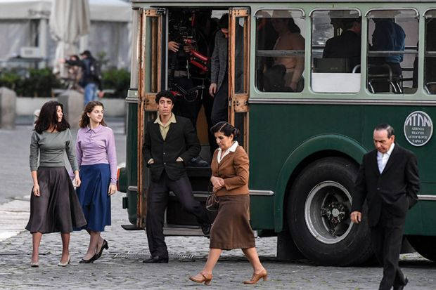 Napoli set TV series, A genial friend, based on a novel by Elena Ferrante