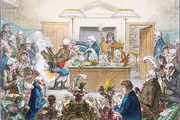 Scientific Researches! - New Discoveries in Pneumaticks! by James Gillray (1757-1815)