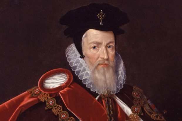 Painting of William Cecil, 1st Baron Burghley, Lord Burghley