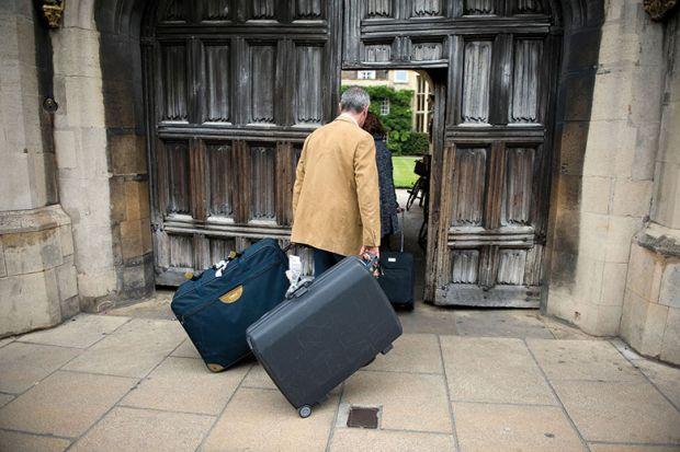 parents suitcases door