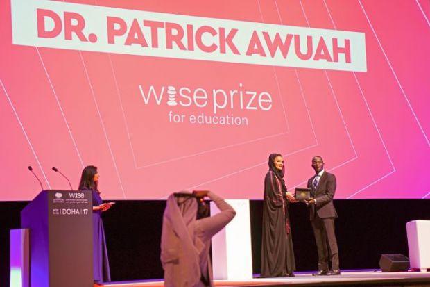 Patrick Awuah receives 2017 Wise Prize