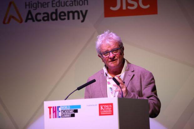 Paul Nurse speaks at the Times Higher Education World Academic Summit