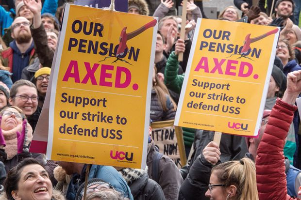 Pensions strike posters