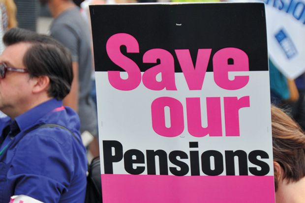 Pensions protester